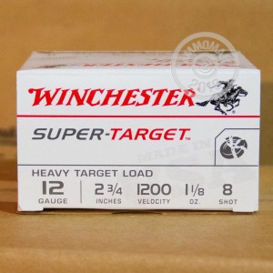 "Picture of 12 GAUGE WINCHESTER SUPER TARGET 2-3/4"" 1-1/8 OZ. #8 SHOT (250 ROUNDS)"