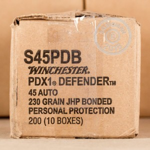 Picture of 45 ACP WINCHESTER PDX1 DEFENDER 230 GRAIN JHP (20 ROUNDS)