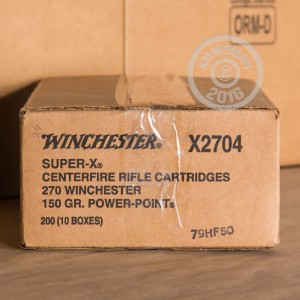 Picture of 270 WIN WINCHESTER SUPER-X 150 GRAIN POWER POINT (20 ROUNDS)