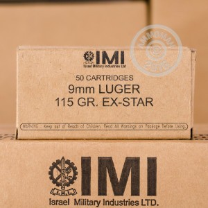 Picture of 9MM LUGER IMI EX-STAR 115 GRAIN JHP (1000 ROUNDS)