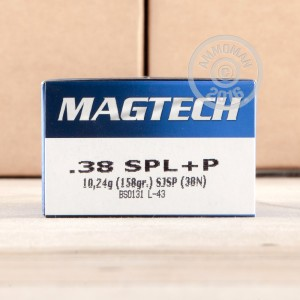 Picture of 38 SPECIAL +P MAGTECH 158 GRAIN SJSP (50 ROUNDS)