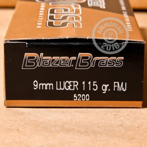 Picture of 9MM LUGER BLAZER BRASS 115 GRAIN FMJ (350 ROUNDS)