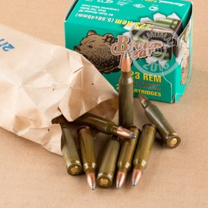 Picture of 223 REMINGTON BROWN BEAR 62 GRAIN SP (20 ROUNDS)
