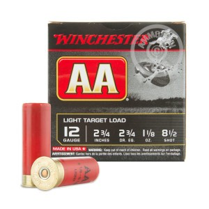 "Picture of 12 GAUGE AA LIGHT TARGET 2-3/4"" 1-1/8 OZ. #8-1/2 shot (25 ROUNDS)"