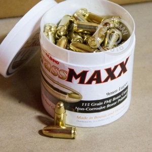 Picture of 9MM LUGER TULA BRASSMAXX 115 GRAIN FMJ (100 ROUNDS)