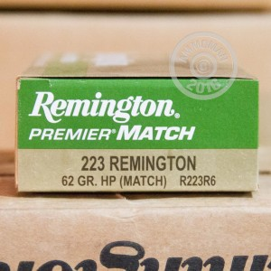 Picture of .223 REMINGTON PREMIER MATCH 62 GRAIN HP (20 ROUNDS)