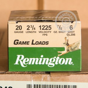 """Picture of 20 GAUGE REMINGTON GAME LOAD 2-3/4"""" #6 SHOT (250 ROUNDS)"""