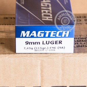 Picture of 9MM LUGER MAGTECH 115 GRAIN FMJ (1000 ROUNDS)
