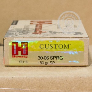 Picture of 30-06 SPRINGFIELD HORNADY 180 GRAIN SPIRE POINT (20 ROUNDS)