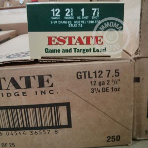 """Picture of 12 GAUGE ESTATE GAME AND TARGET 2-3/4"""" #7.5 SHOT (25 ROUNDS)"""