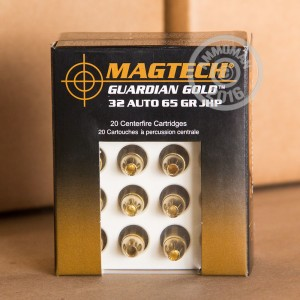 Picture of 32 ACP MAGTECH GUARDIAN GOLD 65 GRAIN JHP (20 ROUNDS)