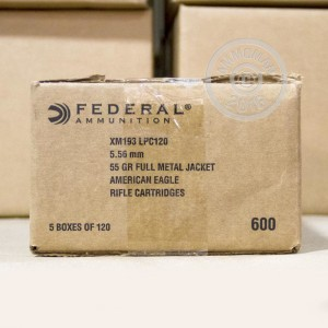 Picture of 5.56 NATO FEDERAL LAKE CITY 55 GRAIN FMJ-BT (600 ROUNDS)