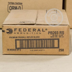 "Picture of 20 GAUGE FEDERAL PREMIUM 2 3/4"" TRUBALL HP RIFLED SLUG (5 ROUNDS)"