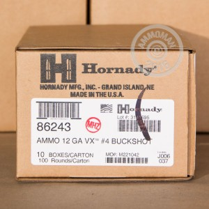 "Picture of 12 GAUGE HORNADY VARMINT EXPRESS 2-3/4"" #4 BUCK (10 SHELLS)"