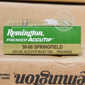 Picture of 30-06 SPRINGFIELD REMINGTON PREMIER 165 GRAIN ACCUTIP BOAT TAIL POLYMER TIP (20 ROUNDS)