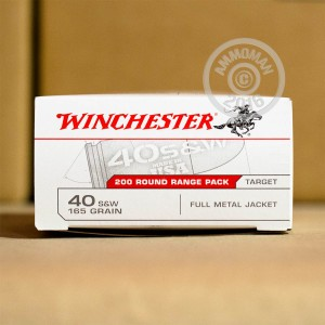 Picture of .40 S&W WINCHESTER 165 GRAIN FULL METAL JACKET (200 ROUNDS)