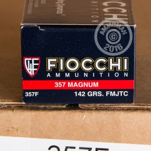 Picture of 357 MAGNUM FIOCCHI FMJ-TC FULL METAL JACKET TRUNCATED CONE (1000 ROUNDS)