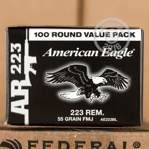 Picture of .223 REMINGTON FEDERAL AMERICAN EAGLE 55 GRAIN FULL METAL JACKET (500 ROUNDS)