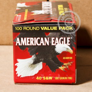 Picture of 40 S&W FEDERAL AMERICAN EAGLE 180 GRAIN FMJ (500 ROUNDS)