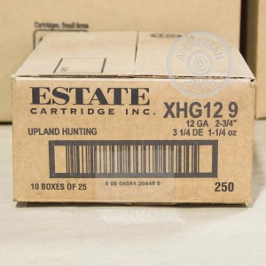 """Picture of 12 GAUGE ESTATE HEAVY GAME LOAD 2 3/4"""" 1-1/4oz. #9 Shot (25 ROUNDS)"""