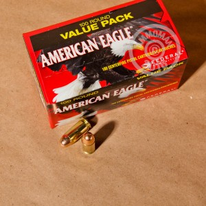 Picture of 45 ACP FEDERAL AMERICAN EAGLE 230 GRAIN FMJ (500 ROUNDS)