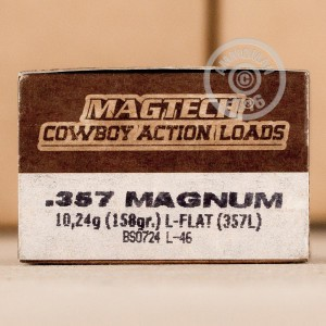 Picture of 357 MAGNUM MAGTECH 158 GRAIN LFN (50 ROUNDS)