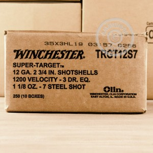 """Picture of 12 GAUGE WINCHESTER SUPER TARGET STEEL 2-3/4"""" #7 SHOT (25 ROUNDS)"""