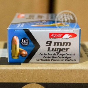 Picture of 9MM LUGER AGUILA 124 GRAIN FMJ (50 ROUNDS)
