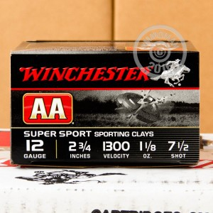 "Picture of 12 GAUGE WINCHESTER AA SPORTING CLAY 2 3/4"" 1 1/8 OZ. #7 1/2 SHOT (250 ROUNDS)"