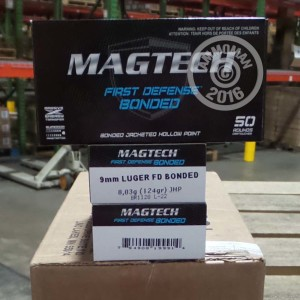 Picture of 9MM LUGER MAGTECH 124 GRAIN JHP (50 ROUNDS)