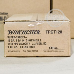 "Picture of 12 GAUGE WINCHESTER SUPER TARGET 2 3/4"" 1 1/8 OUNCE #8 LEAD SHOT TARGET LOAD (250 ROUNDS)"