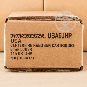 Picture of 9MM LUGER WINCHESTER 115 GRAIN JHP (50 ROUNDS)