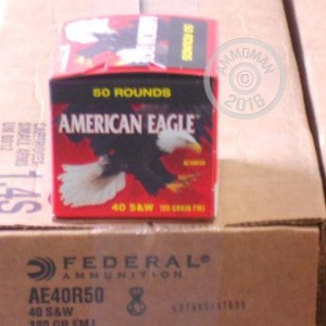 Picture of 40 S&W FEDERAL AMERICAN EAGLE 180 GRAIN FMJ (50 ROUNDS)