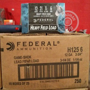 """Picture of 12 GAUGE FEDERAL GAME SHOK 2 3/4"""" 1 1/4 OZ #6 LEAD SHOT GAME LOAD (25 ROUNDS)"""