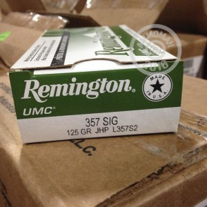 Picture of .357 SIG REMINGTON UMC 125 GRAIN JHP (500 ROUNDS)