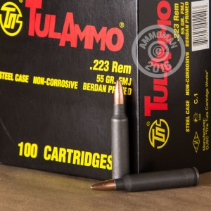 Picture of 223 REMINGTON TULA 55 GRAIN FULL METAL JACKET (100 ROUNDS)