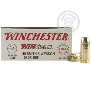 Picture of 40 SMITH & WESSON WINCLEAN 165 GRAIN BEB (50 ROUNDS)