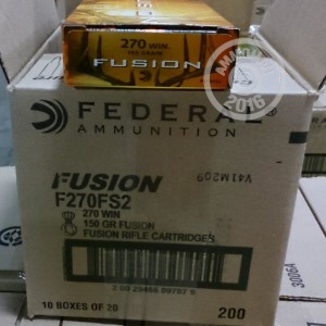 Picture of 270 WINCHESTER FEDERAL FUSION 150 GRAIN SP (20 ROUNDS)