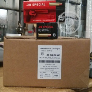 Picture of 38 SPECIAL GECO 158 GRAIN FMJ (1000 ROUNDS)