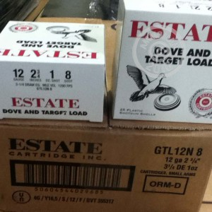 """Picture of 12 GAUGE ESTATE 2-3/4"""" #8 SHOT (25 ROUNDS)"""
