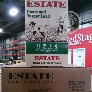 """Picture of 12 GAUGE ESTATE CARTRIDGE GAME AND TARGET 2-3/4"""" 1 OZ. #6 SHOT (25 ROUNDS)"""