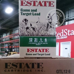 "Picture of 12 GAUGE ESTATE CARTRIDGE GAME AND TARGET LOAD 2-3/4"" 1 OZ. #6 SHOT (250 ROUNDS)"
