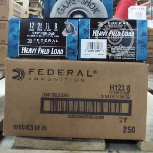 """Picture of 12 GAUGE FEDERAL GAME-SHOK HEAVY FIELD LOAD 2-3/4"""" 1-1/8 OZ #8 SHOT (25 ROUNDS)"""