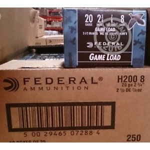 "Picture of Federal 20 GA 2-3/4"" #8 shot - 7/8 oz Game Load (250 Rounds)"