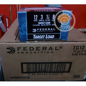 """Picture of 12 GAUGE FEDERAL TOP GUN 2 3/4"""" #8 TARGET LOAD (25 ROUNDS)"""