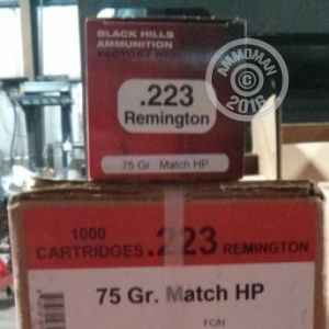 Picture of 223 BLACK HILLS HEAVY MATCH 75 GRAIN HP (1000 ROUNDS)