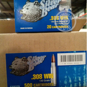 Picture of 308 SILVER BEAR 140 GRAIN SP (500 ROUNDS)