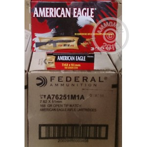 Picture of 7.62X51MM FEDERAL AMERICAN EAGLE 168 GRAIN OPEN TIP MATCH (20 ROUNDS)