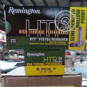 Picture of 38 SPECIAL +P REMINGTON HTP 125 GRAIN SJHP (500 ROUNDS)