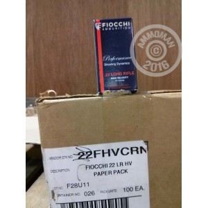 Picture of 22 LR FIOCCHI 40 GRAIN LEAD ROUND NOSE (500 ROUNDS)